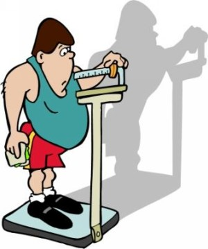 People trying to lose weight clipart.