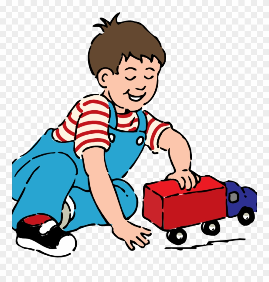 Play Clip Art Boy Playing With Toy Truck Clip Art At.