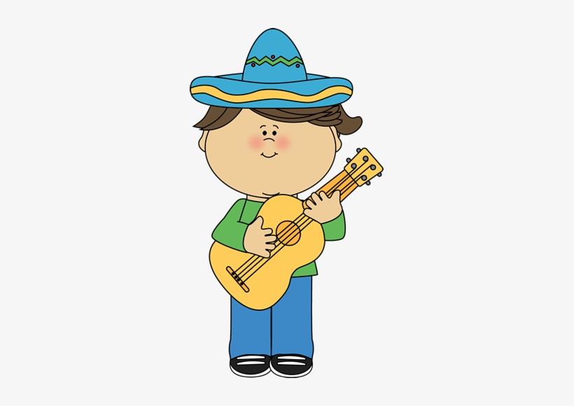 Children Playing Guitar Clipart.