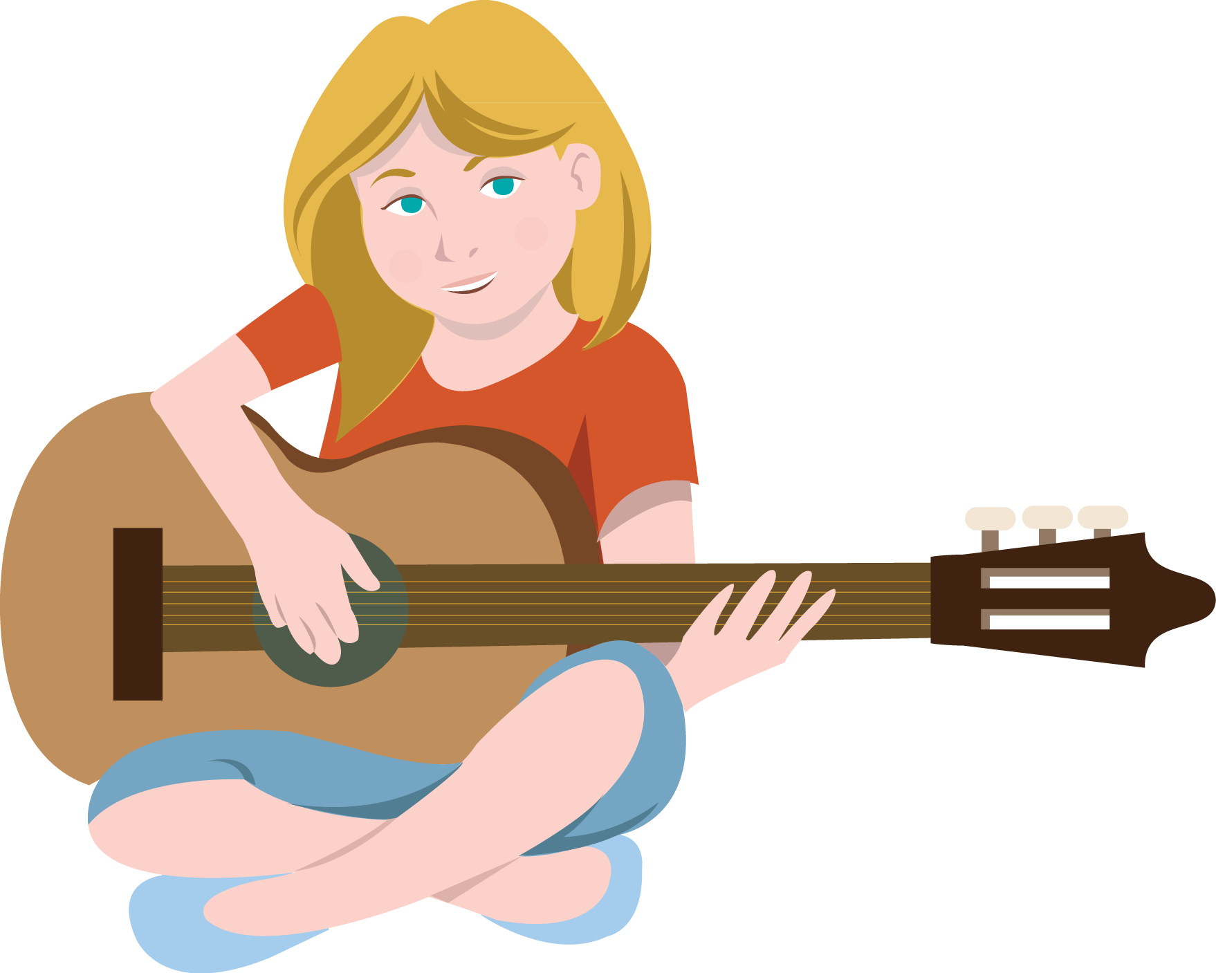 To Play The Guitar Clipart.