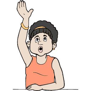 Raise Your Hand Clipart.