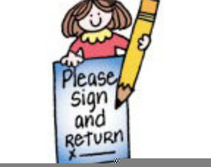 Please Sign And Return Clipart.