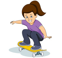 To Skateboard Clipart.