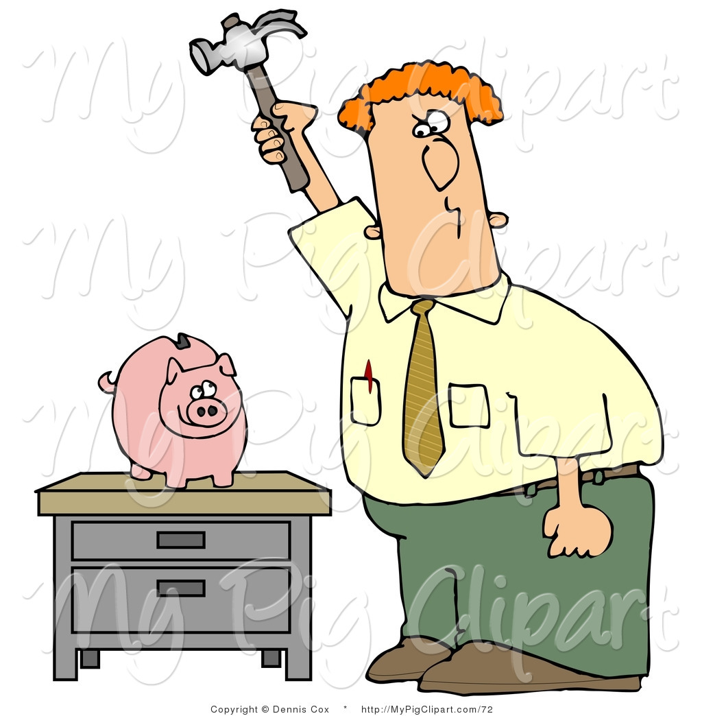 985 Piggy Bank free clipart.