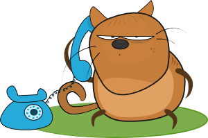 Cat Talking In Phone Clip Art at Clker.com.