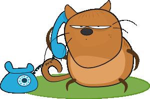 Cat Talking In Phone Clip Art at Clker.com.