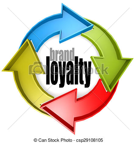 Stock Photography of Brand loyalty color cycle sign image with hi.
