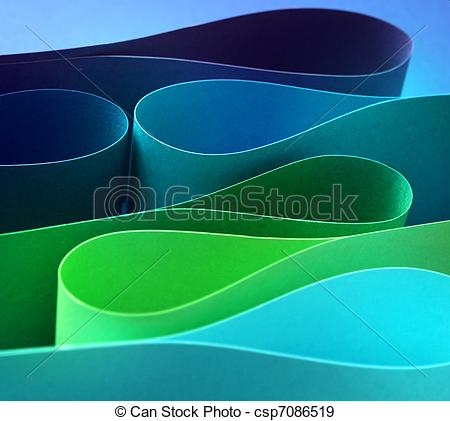 Stock Photographs of Cool color arc wave form.