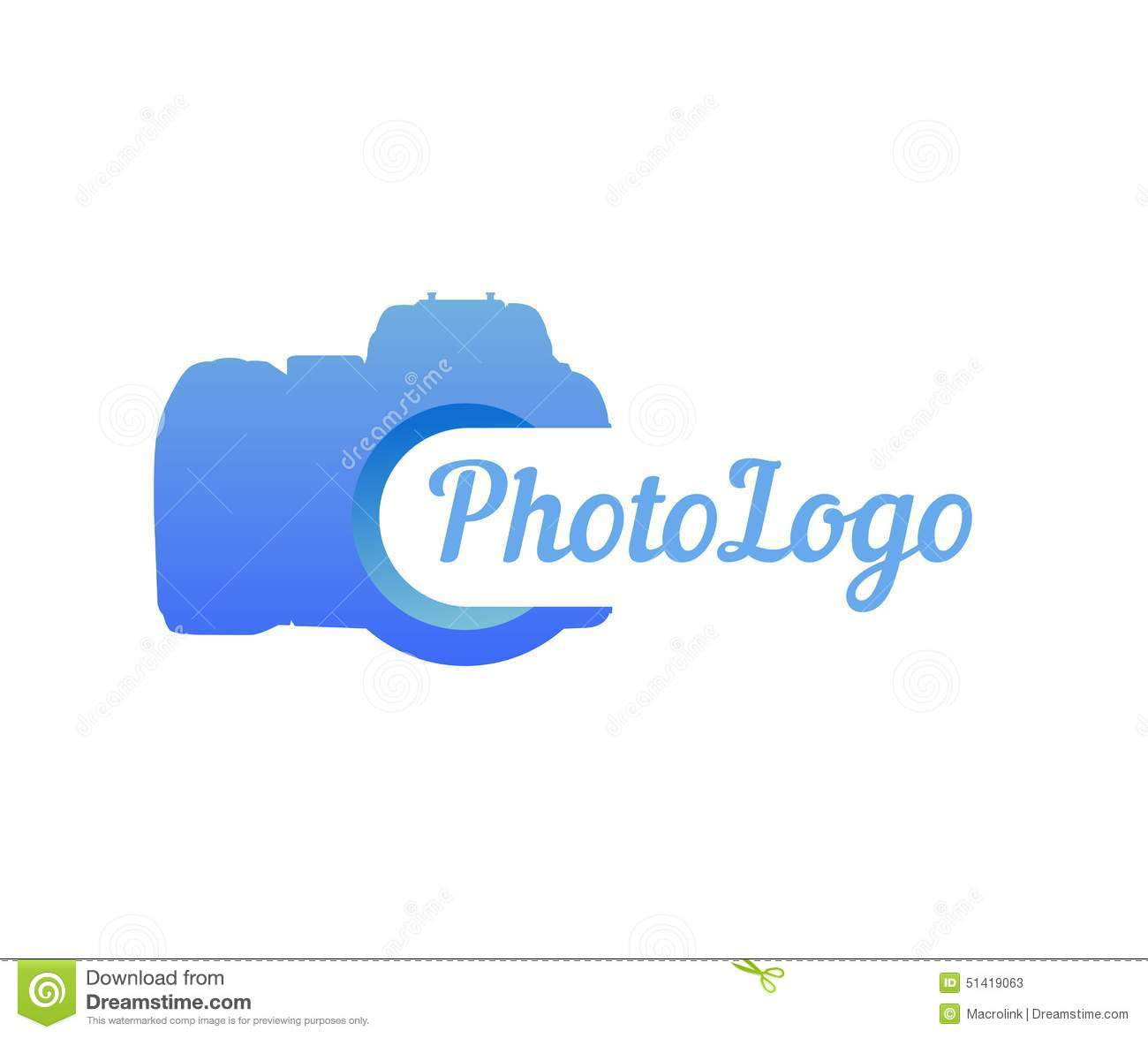 Logo Of Photo Camera In Blue Color Stock Vector.