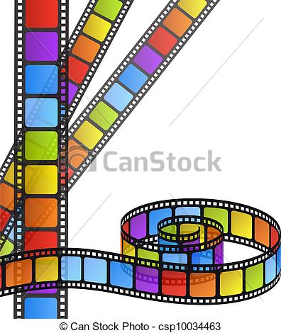 Vector Illustration of rainbow colored photography shutter logo.