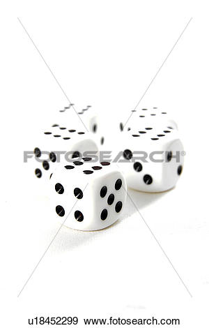 Stock Photograph of betting, bones, chance, color photograph.