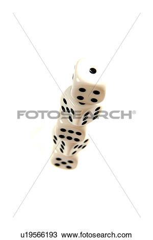 Stock Photo of betting, bones, chance, color photograph, color.