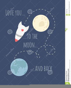 I Love You To The Moon And Back Clipart.