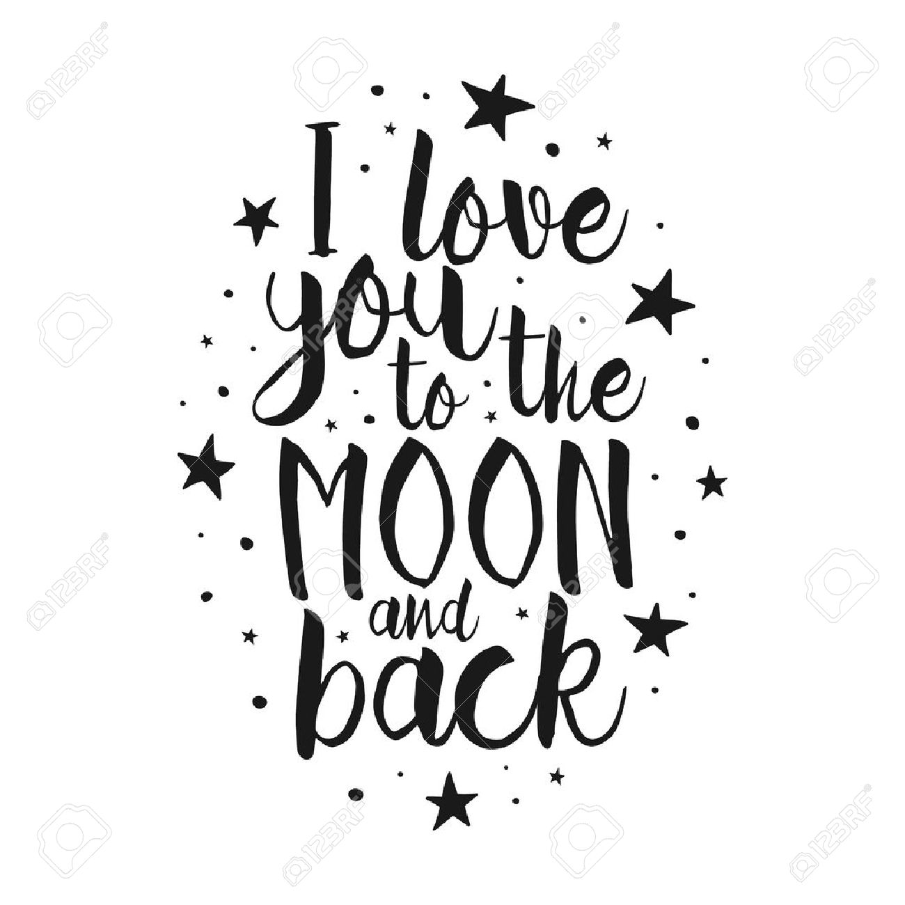 Love you to the moon and back clipart 1 » Clipart Station.