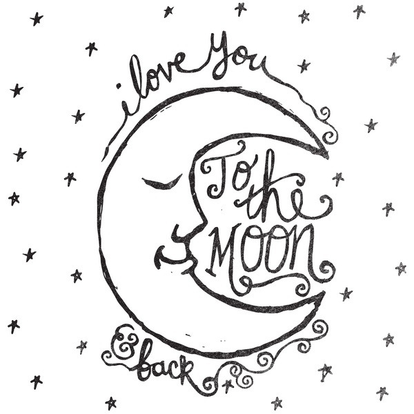 I Love You To The Moon And Back SVG Cut File • Hand Lettered.