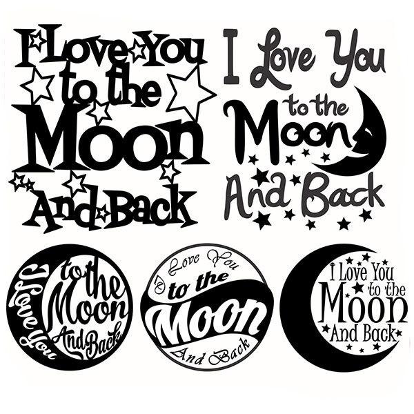 Moon silhouette.