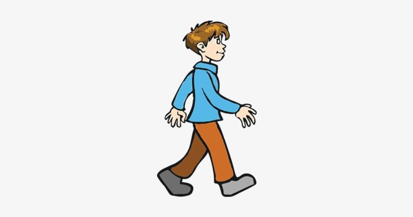 Little Boy Clipart Walking Away.