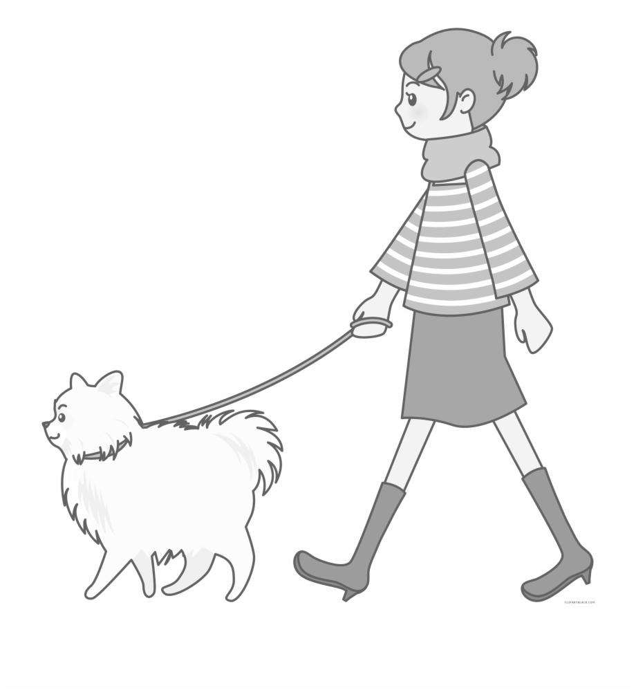 Dog Walking Clipart Free.