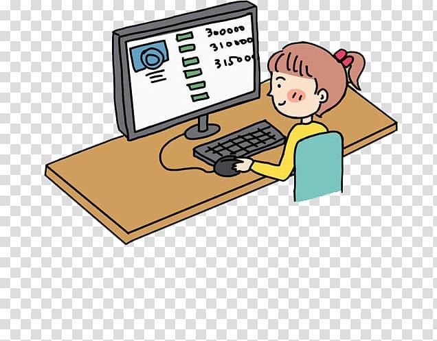 Computer Gratis, Computer work transparent background PNG.