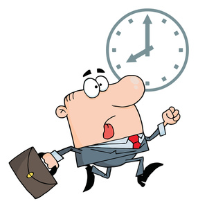 Clock At Work Clipart.