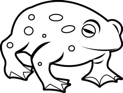 toad clip art black and white.