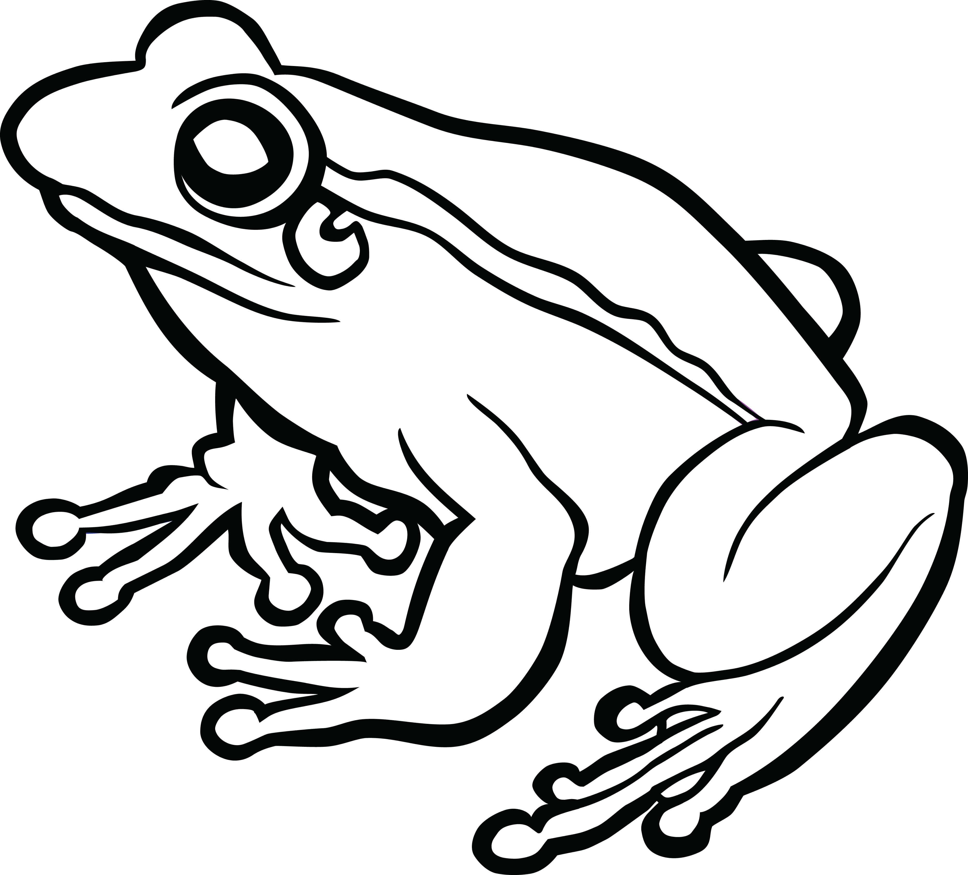 Toad PNG Black And White Transparent Toad Black And White.