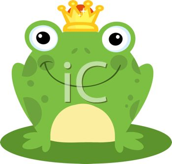 Picture of a Toad Sitting On a Lily Pad Wearing a Crown In a.