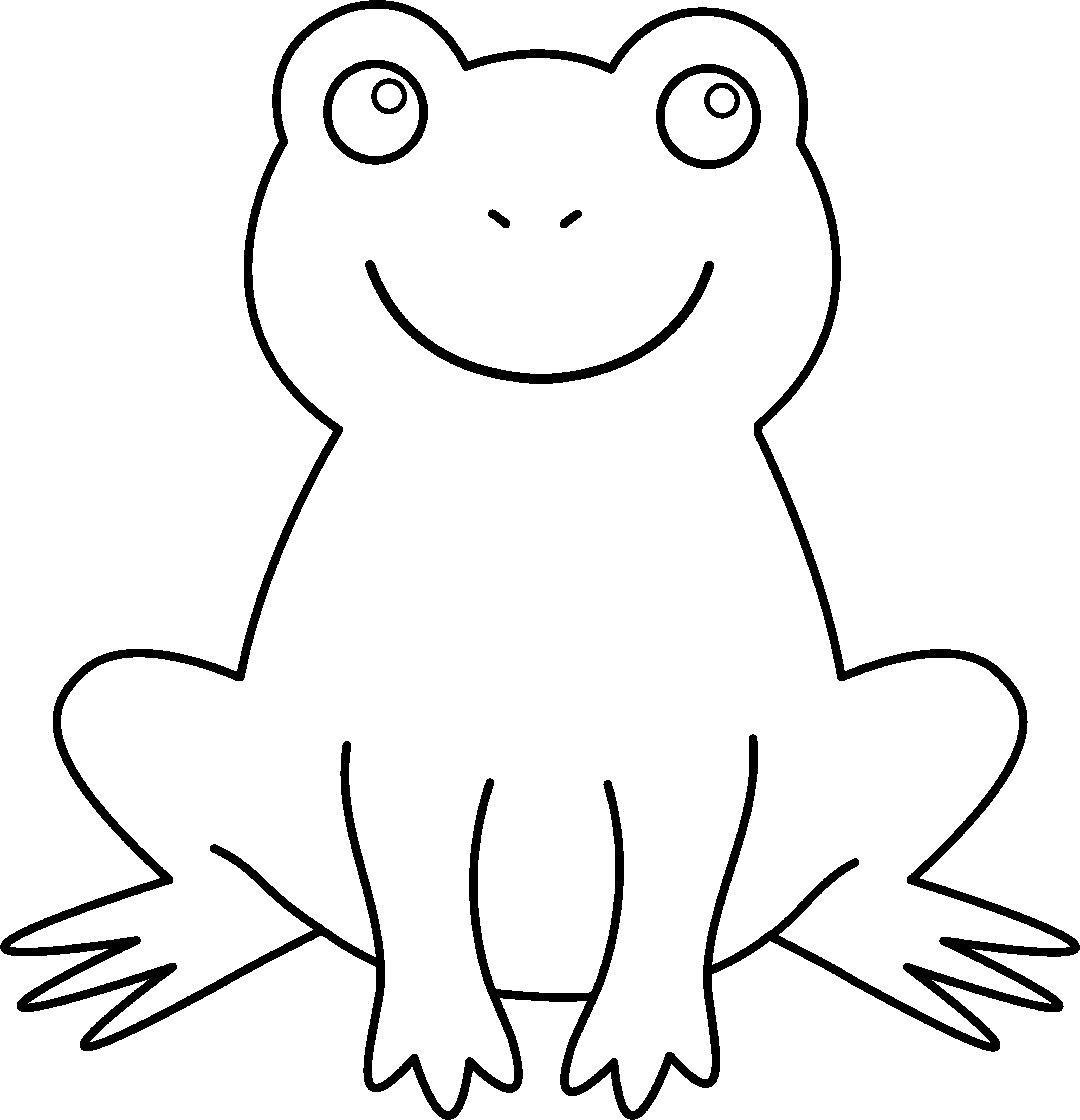 Tree Frog Clip Art Black And White.