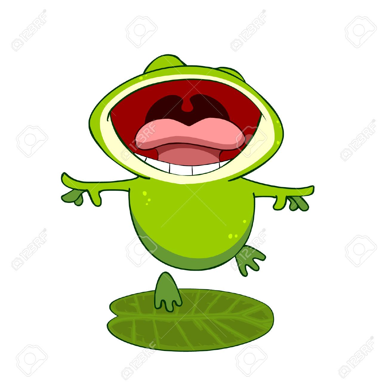 Frog clipart open mouth, Frog open mouth Transparent FREE.