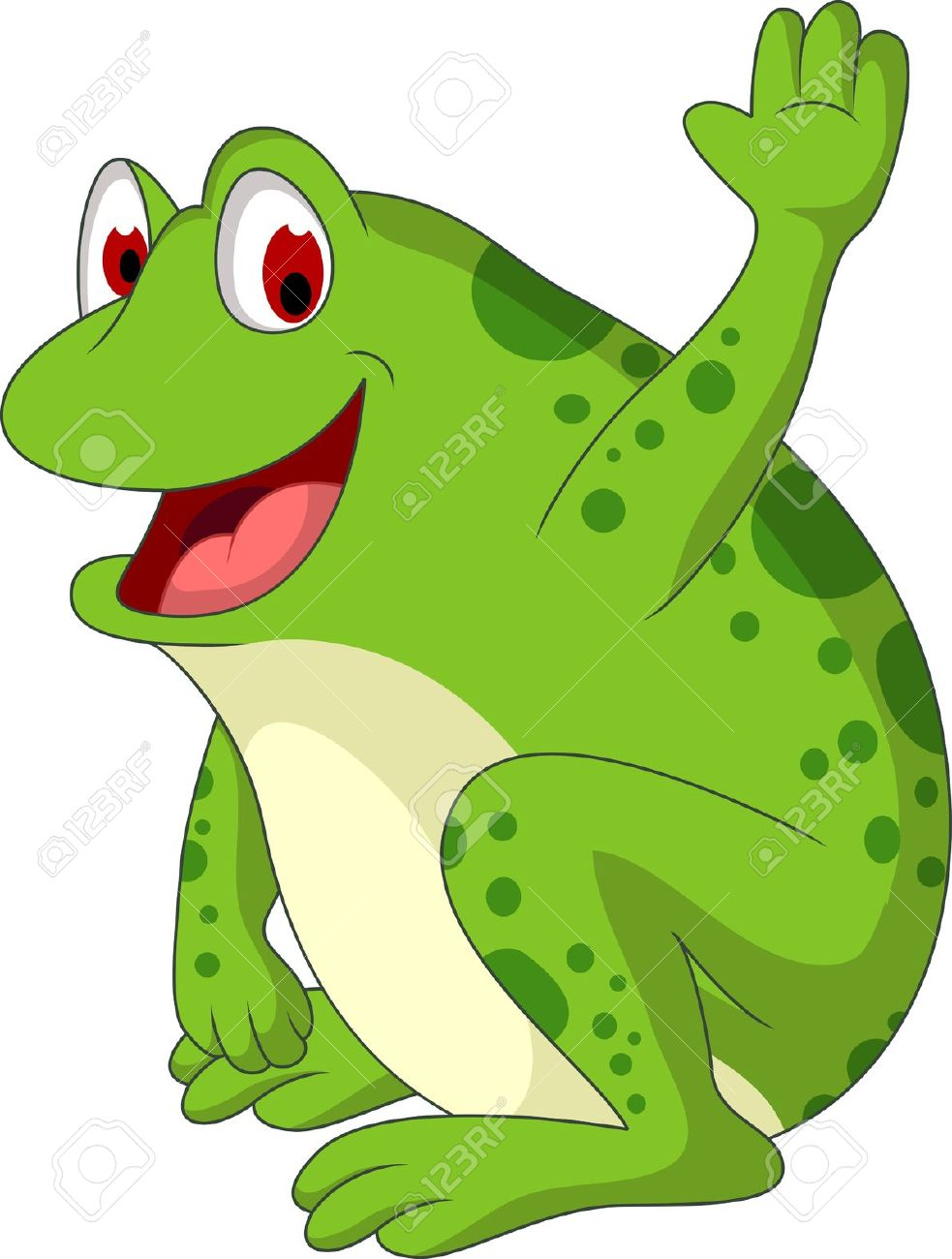 Cute Free Toads Clipart.