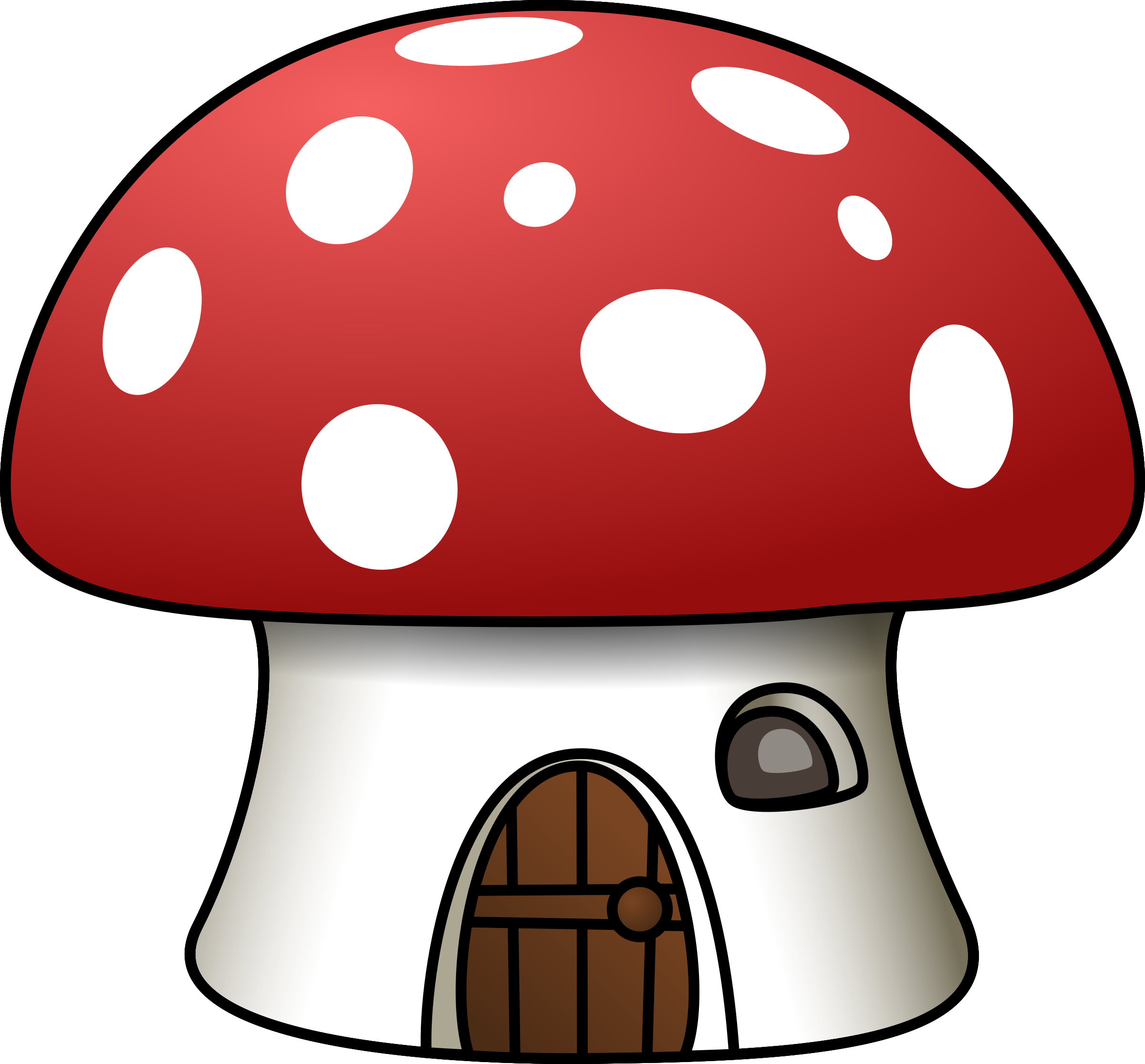 Toadstool House Clipart.