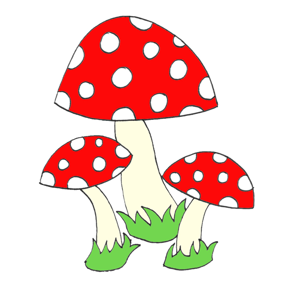 Toadstool cliparts.