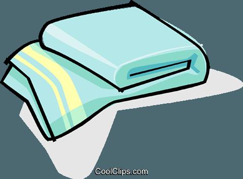 Toalha de banho livre de direitos Vetores Clip Art.
