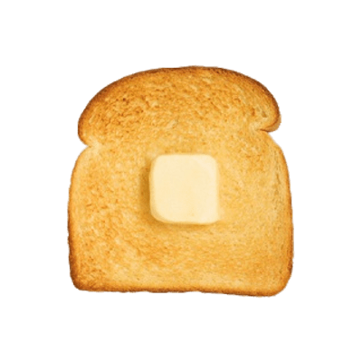 Cube Of Butter on Toast transparent PNG.