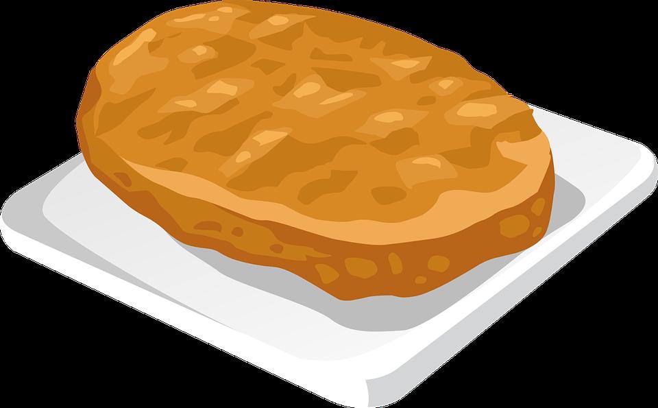 Cartoon Jelly Cake Recipe: Toast Snack Clipart