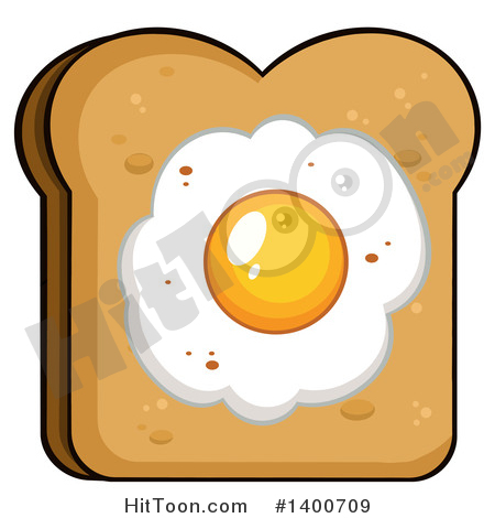 Eggs And Toast Clipart #1.