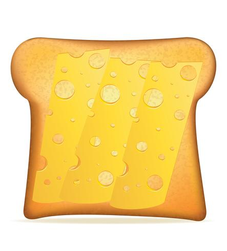 toast with cheese vector illustration.