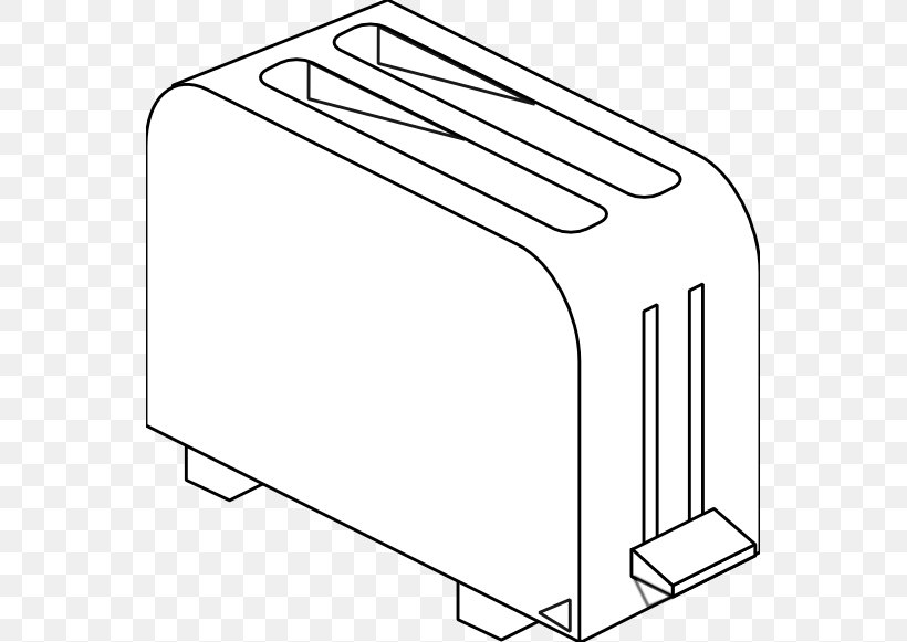 Toaster Coloring Book Line Art Clip Art, PNG, 555x581px.