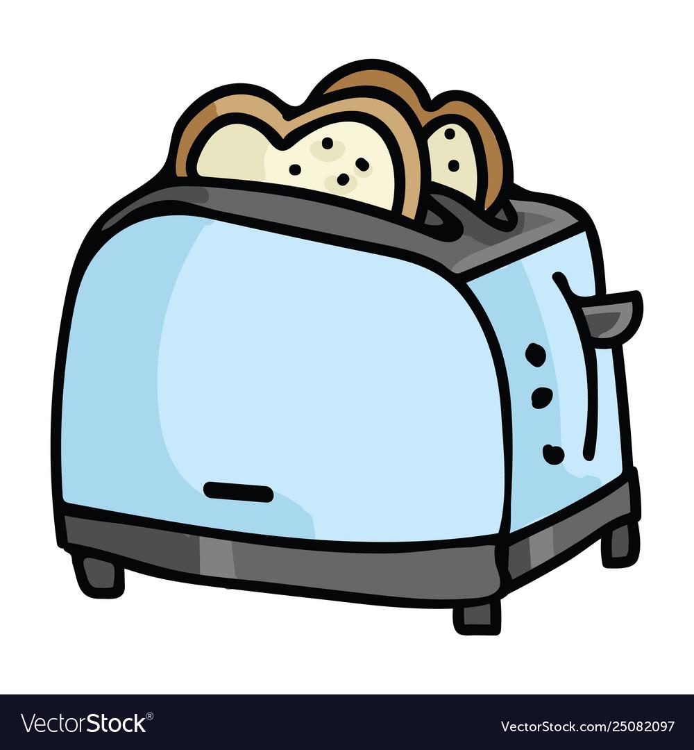 Cute vintage toast cartoon.