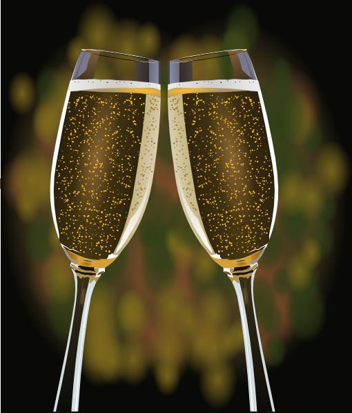 Champagne Glasses Clip Art at Clker.com.