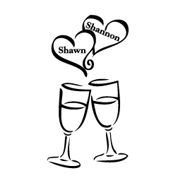 Wedding toast clipart.