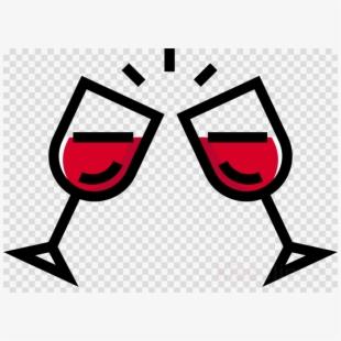 Red Wine Toast Vector.