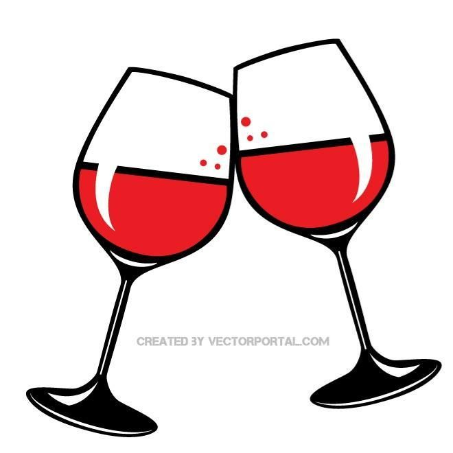 Toasting wine glasses clipart 2 » Clipart Portal.