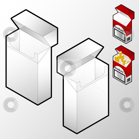 Cigarette box stock vector.