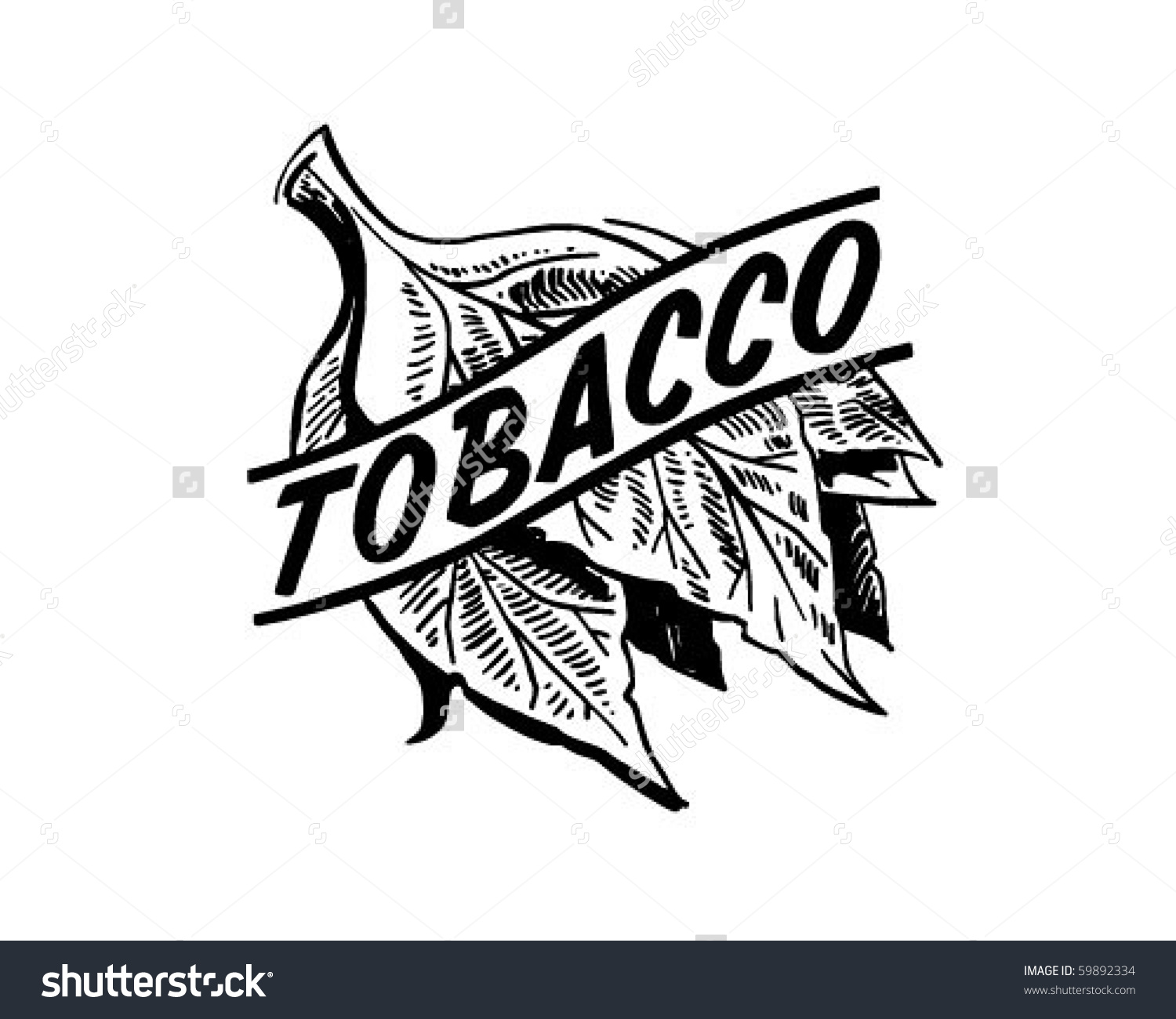 Tobacco Retro Clip Art Stock Vector 59892334.