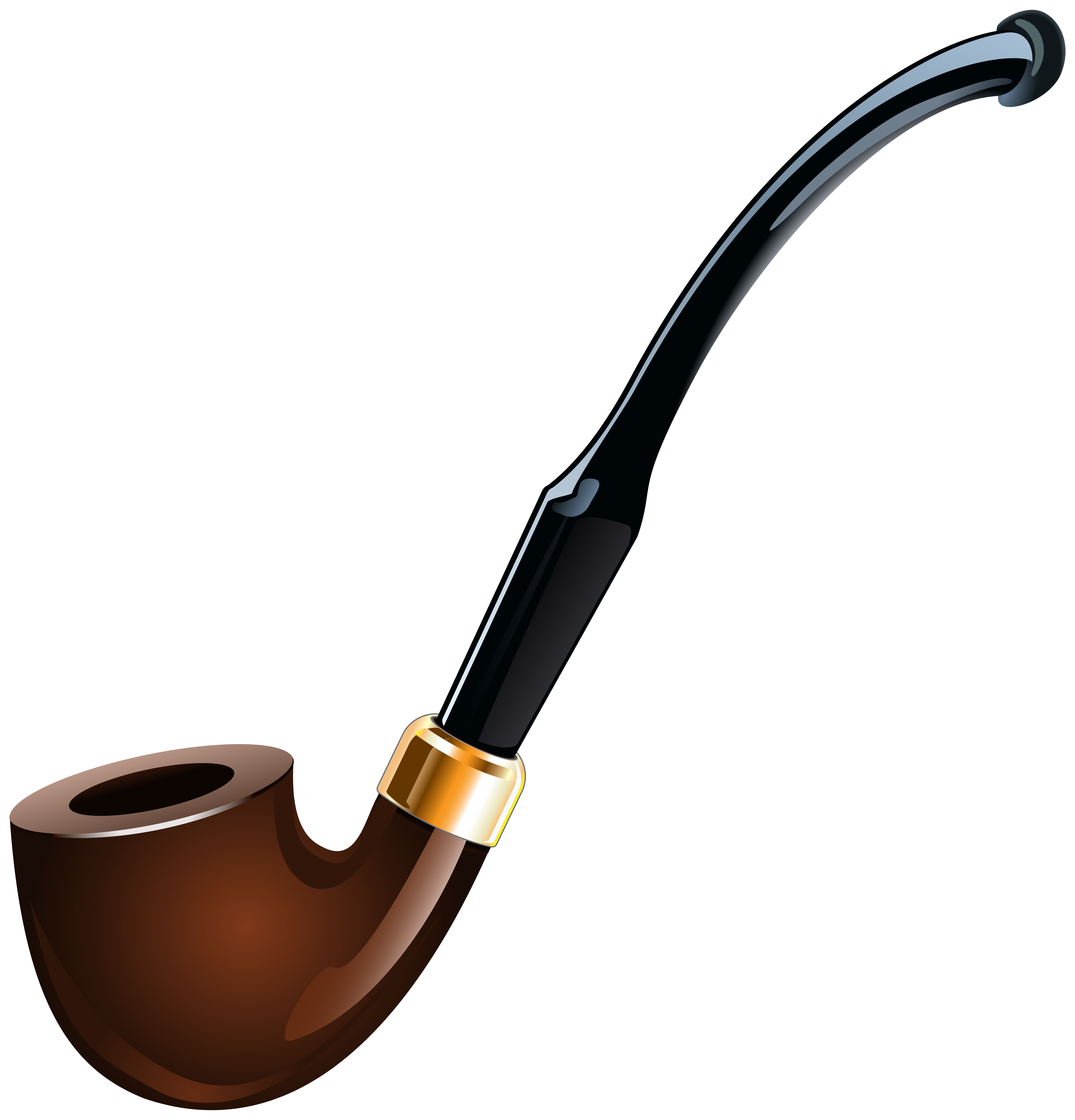 Tobacco Pipe Transparent PNG Clip Art Image.