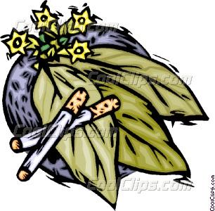 tobacco crop Vector Clip art.