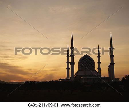 Stock Photography of Malaysia, Selangor, State Mosque (Masjid.