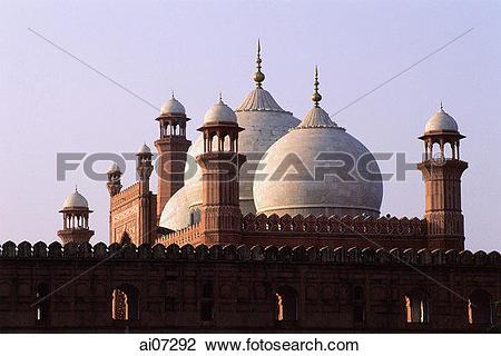 Stock Photo of Pakistan, Punjab, Lahore, Dome shape roof of.