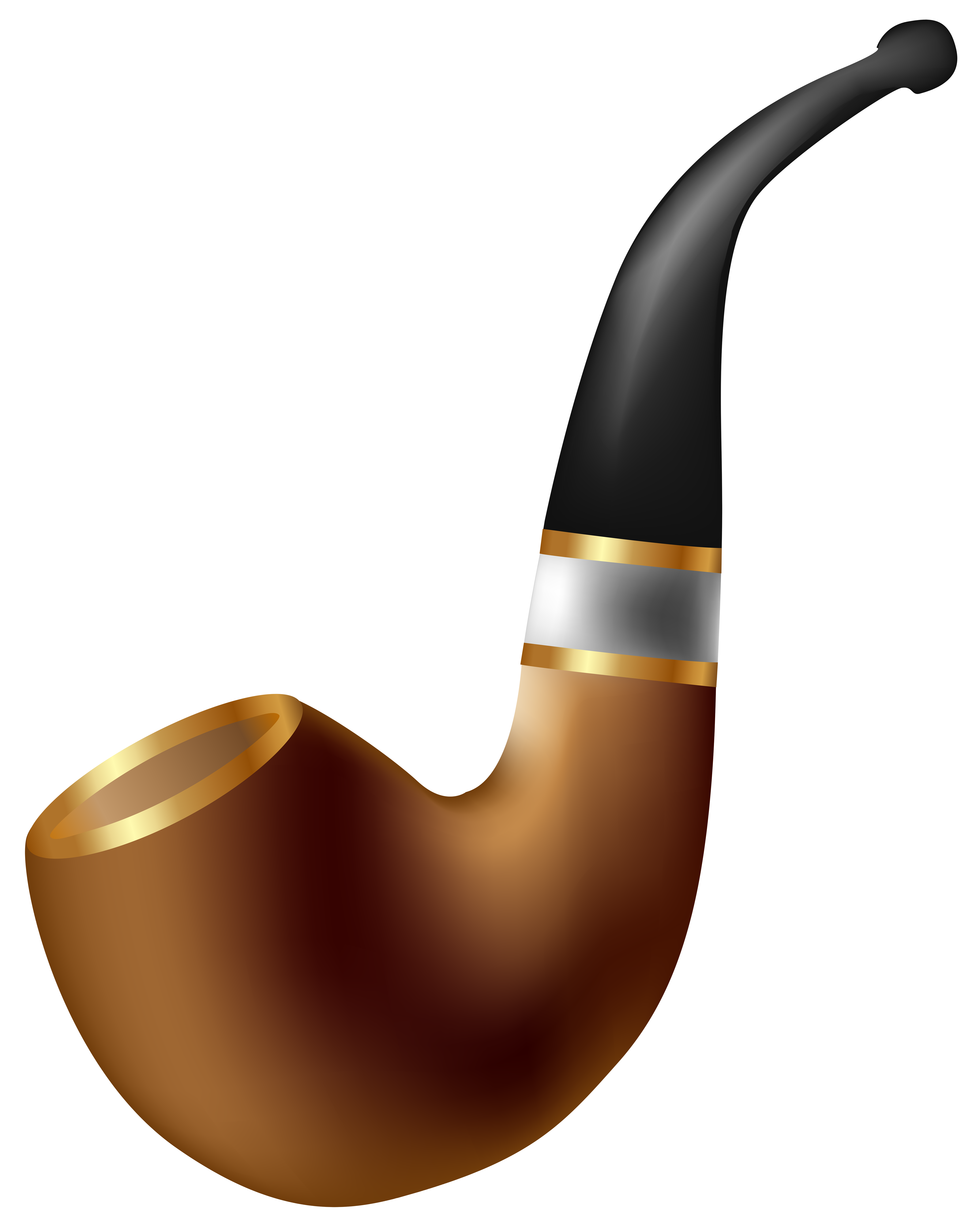 Tobacco Pipe PNG Clip Art Image.